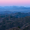 A Pink Sunset Shot from the Great Wall of China