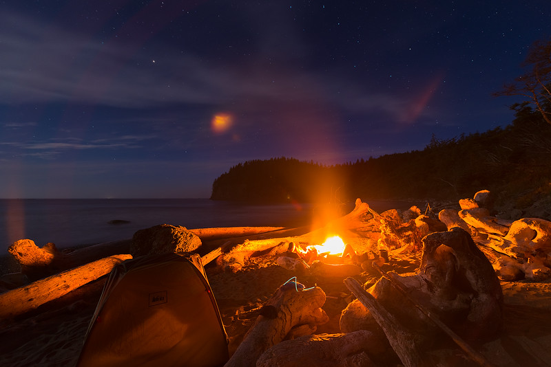Camping on the Remote Olympic Coastline of Washington State