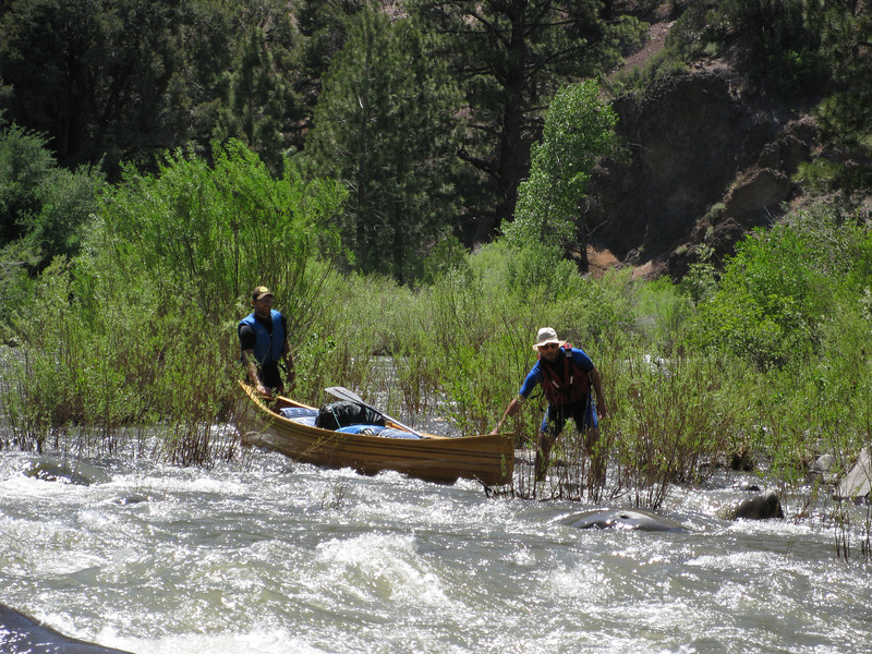June 28th - Witnessing the death of Wishful Thinking... on the E. Fork of the Carson River... Nick's canoe did not survive past day 1...