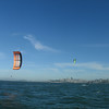 March 17th - Kiteboarding under the Golden Gate bridge with Andrew (in the green kite ahead of me).
