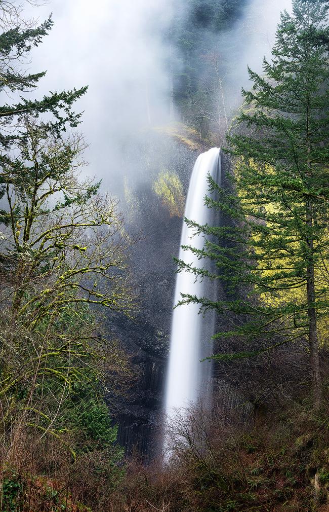 Follow the Leader - Elowah Falls, Oregonread more at www.DaveMorrowPhotographhy.com
