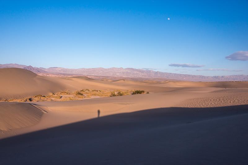 Moon light & twilight in Death Valley National Park, California