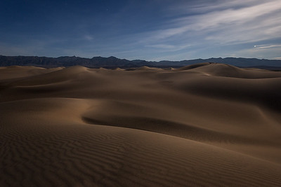 Night Fall on the Dunes - Death Valley, California