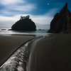 Moonlight on the Oregon Coast