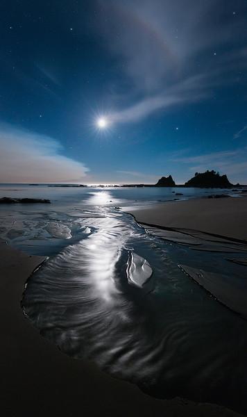 Moonset on the Wild Coast of Washington State