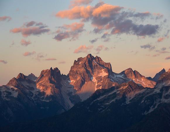 Mount Redoubt at Sunset - North Cascades, Washington