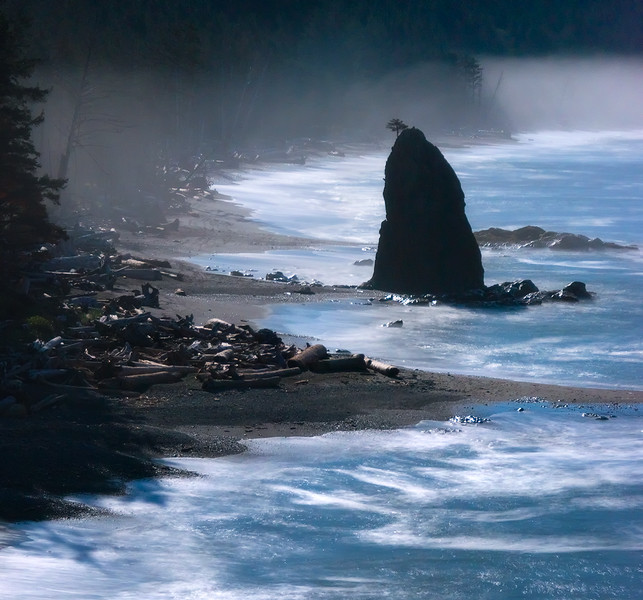Full Moon on the Pacific Coast - Olympic National Park, Washington