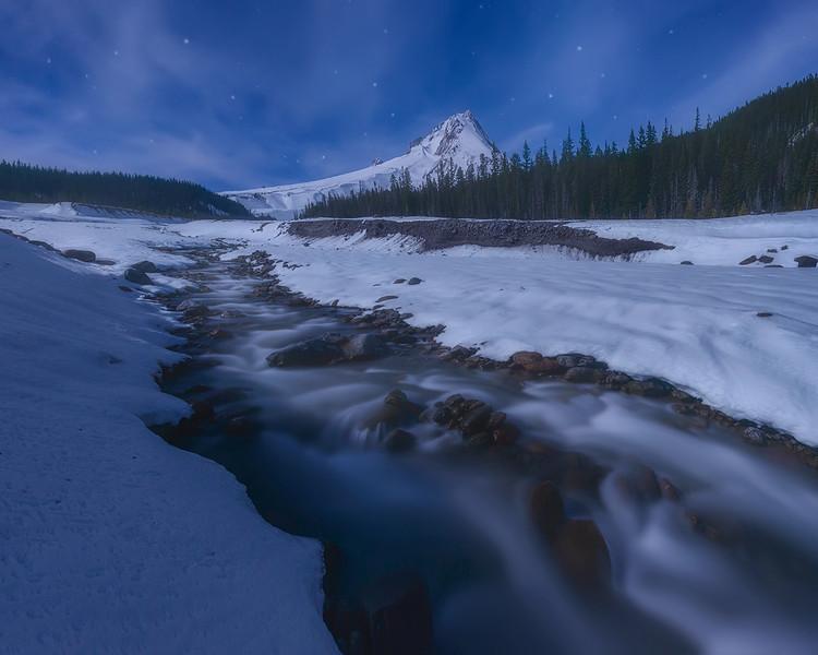 Moon Shadow - Mount Hood, Oregon