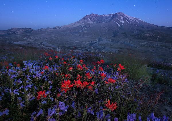 A Passing Glimpse - Mount St. Helens, WA