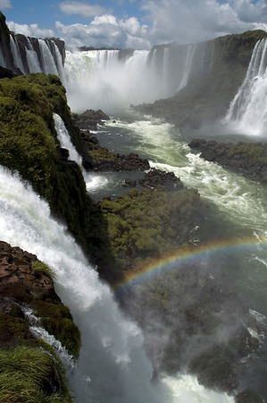 Iguassu falls Rainbow. Brazil