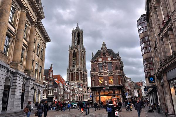 The Dom Tower, Downtown Utrecht Holland