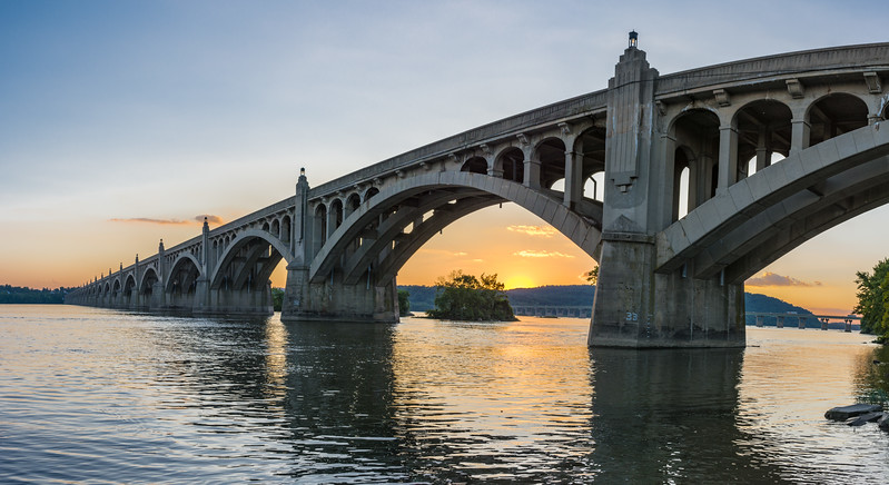 Columbia Wrightsville Bridge (Veterans Memorial Bridge)  Columbia, PA