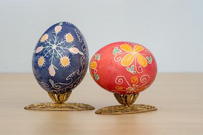 Ukrainian Easter Egg  Handcrafted by Esther K Nonannmocher