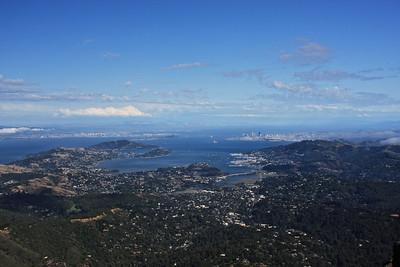 Views of San Francisco bay from Mt Tamalpais