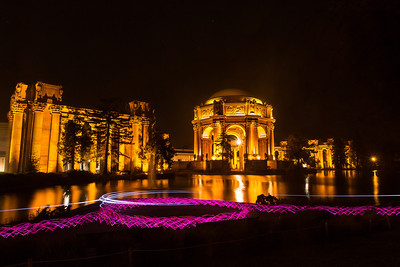 Palace of Fine Arts SF by night