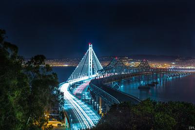 New Oakland Bay bridge by night