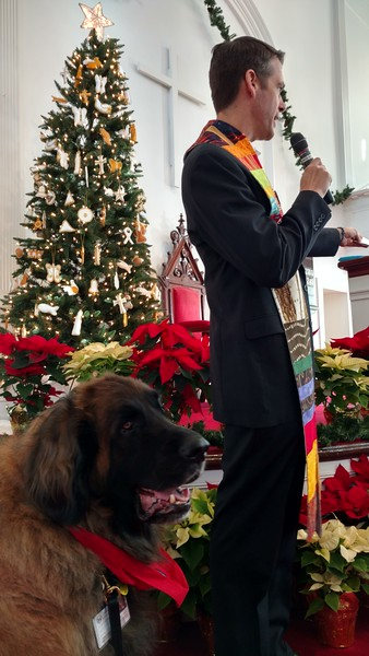 Two months before the limping began Vikahn was participating in an interdenominational service honoring  the memory of the Newtown victims .