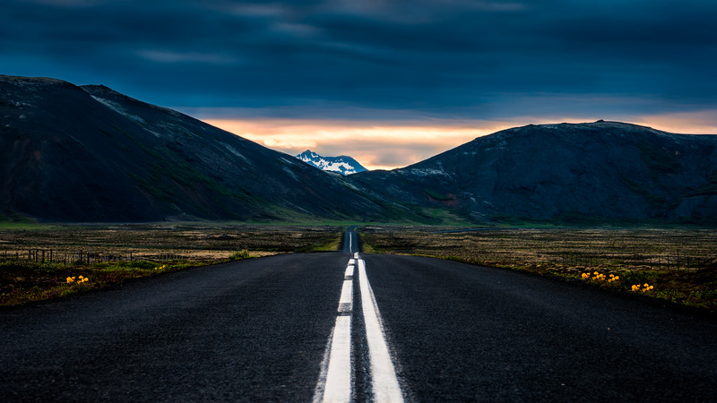 Towards the mountain (Iceland)
