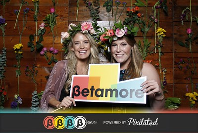 Beta City Flower Wall Booth presented by UrbanStems