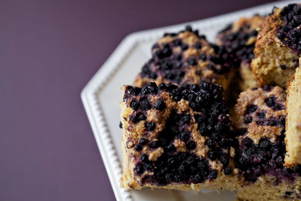 Brown butter blueberry cake