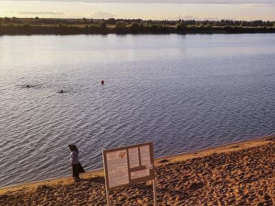 Swimmng in the Volga River