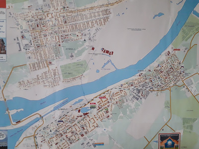 Map of Dubna