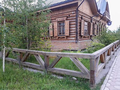 Recreation of old Takutsk Style Building