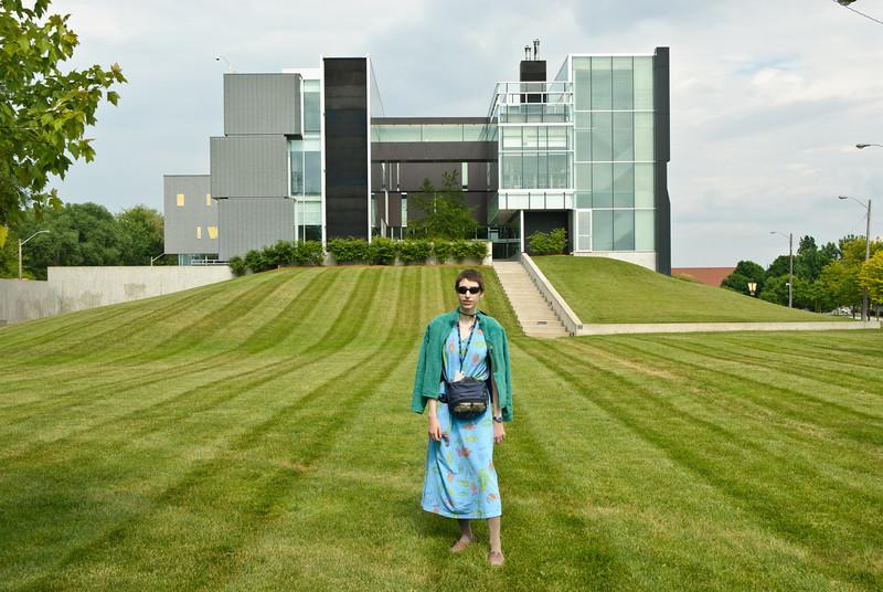 Beth outside the Perimeter Institute