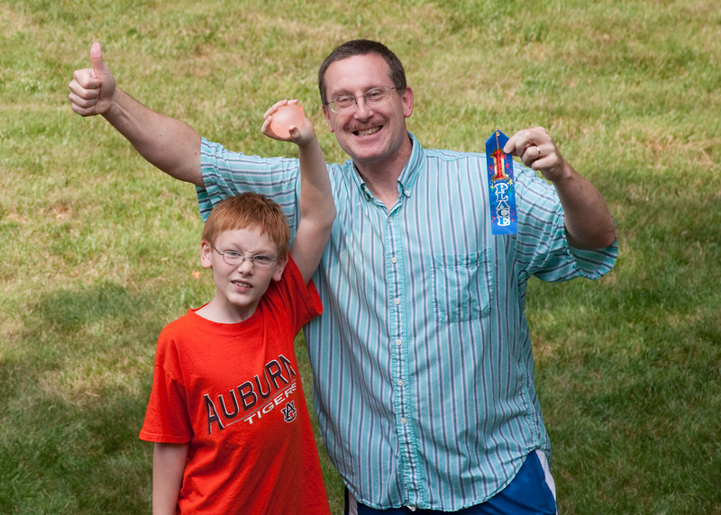 Swanson & Swanson - new water balloon champions!!! (Water balloon mayhem broke out shortly after)