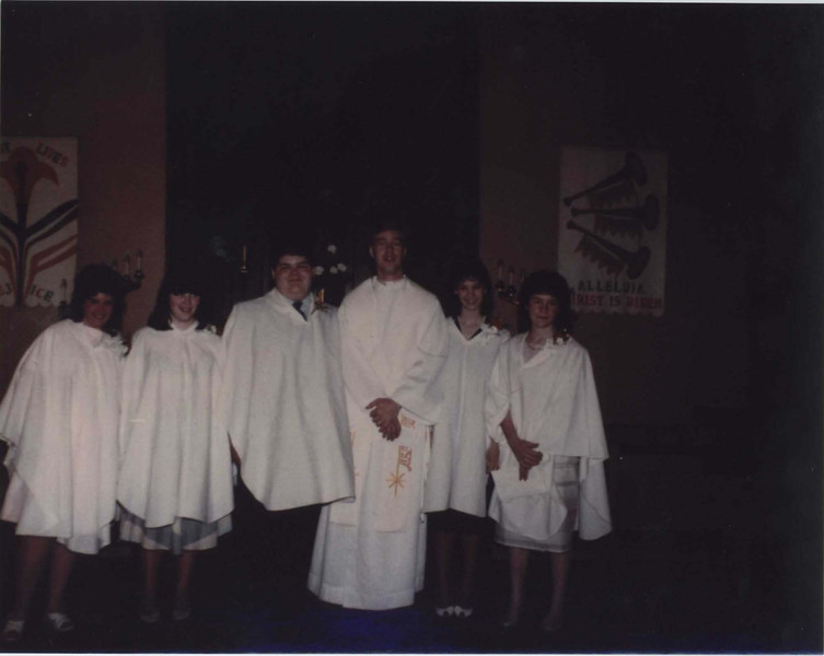 1986 Confirmation Class, Pastor Enko.