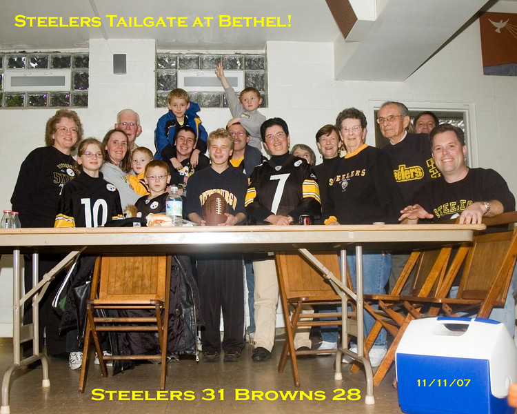 Steelers Tailgate at Bethel