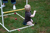 Our youngest ladder golf competitor.