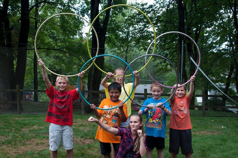 The Olympic hulu hoop contest begins!