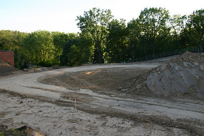 Looking slightly south from the east side of the construction area