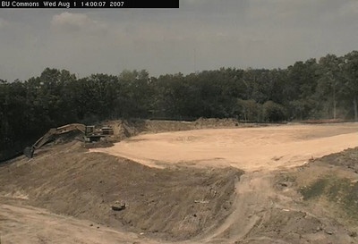 Bethel University Brushaber Commons construction timelapse at approximately 3days/sec.