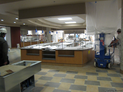 Dining center serving area