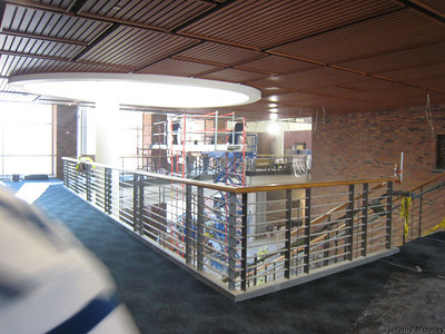 3rd floor walkway, looking towards CC building