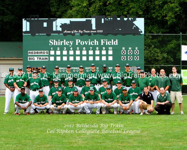 2012 Bethesda Big Train Team Photo