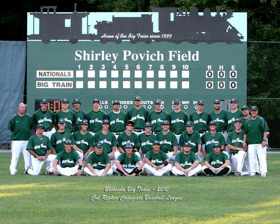 2010 Team Photo, Bethesda Big Train, Cal Ripken Collegiate Baseball League