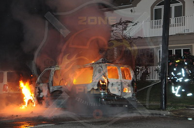 Bethpage F.D. Car Fire Andrew Ln. and Seitz Dr. 10/11/11