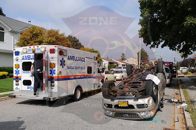 Bethpage F.D. MVA w/ Overturn N.2nd St. and Thomas Ave. 10/17/13