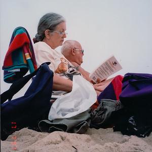 1997 on the beach w/Avery