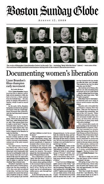 Betty Tells Her Story, Boston Globe