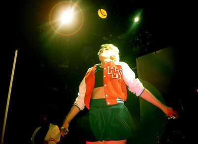 BOWERY BALLROOM, NEW YORK - APRIL 2014:  Pop star Betty Who performing live at the Bowery Ballroom on Saturday, April 19, 2014 in New York City. (Photo by Lukas Maverick Greyson)