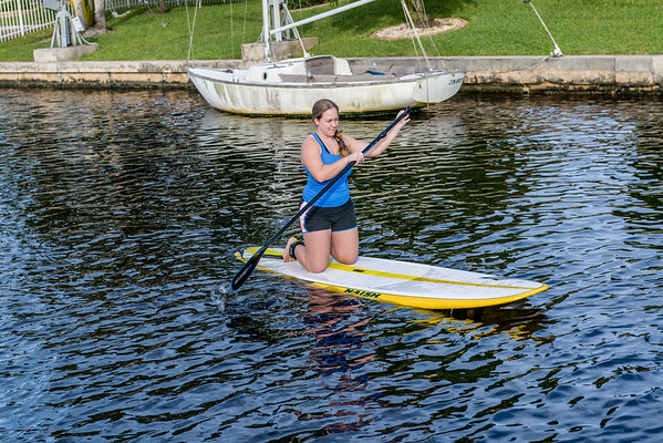 Lindsey rides Paddleboard first time