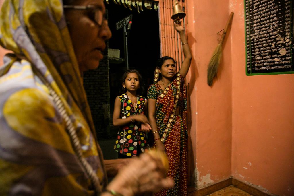 Savita and roshni in evening prayers