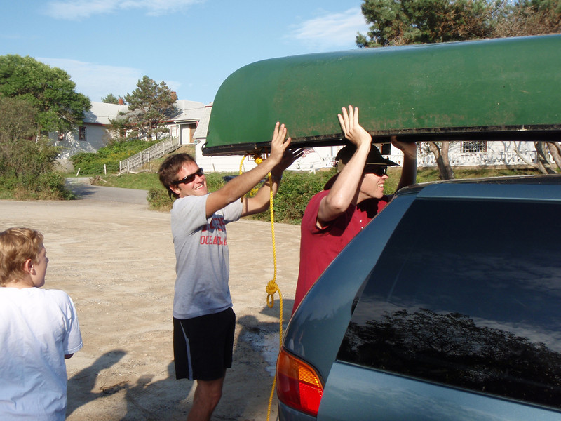 Loading Canoe after long day.