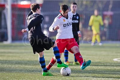 26-03-2016: Voetbal: Excelsior B1 v de Graafschap B1: Rotterdam Kwartfinale KNVB beker seizoen 2015/2016