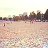 Friends and Family at the Beach : Milwaukee Cityscape Medium Format Color Film