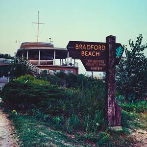 Bradford Beach County Park : Milwaukee Cityscape Medium Format Color Film